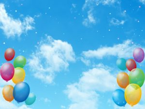 風船と青空