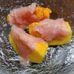 柿と生ハム